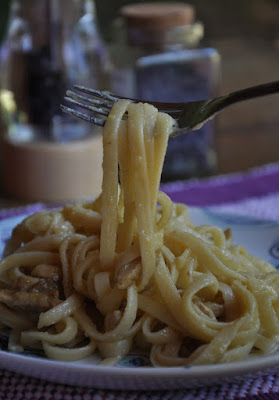 Linguine à Carbonara (vegana)