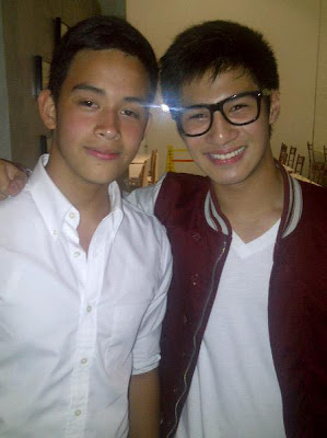 Diego Loyzaga and Albie Casiño