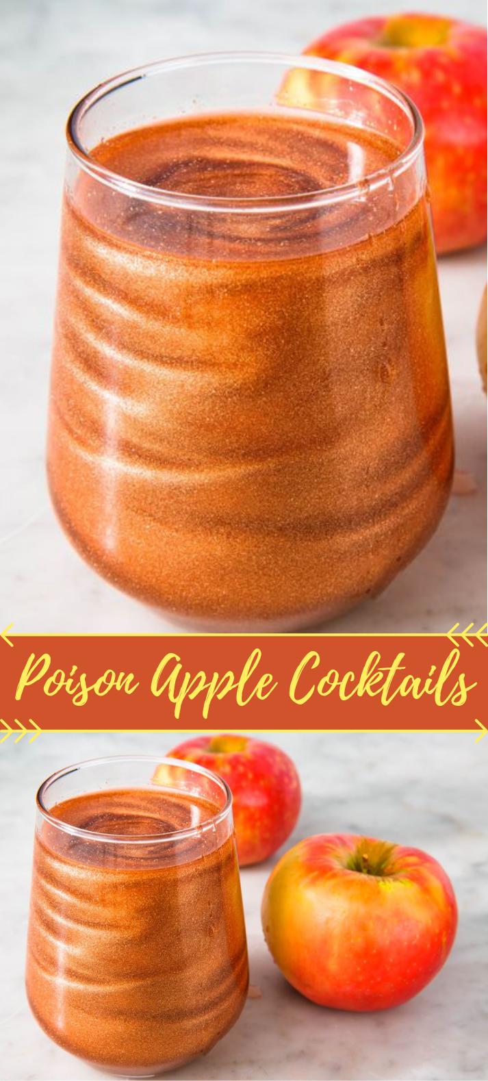 Poison Apple Cocktails #MixedDrink #HalloweenParty