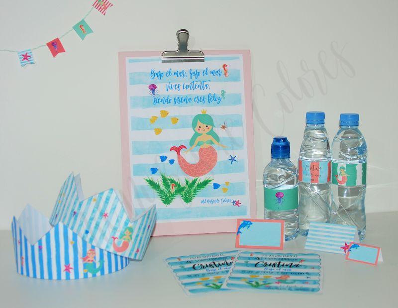 Fiestas de Cumpleaños para niños y niñas Bajo el Mar  con Sirenas, Peces, Medusas