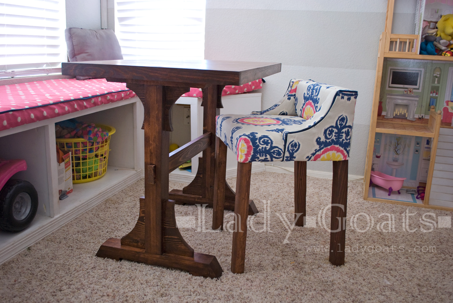 hobby lobby table and chairs white nursery rocking chair lady goats you re so vain my friend london i had picked out this fabric from because was planning on reupholstering window seat cushion before walking in