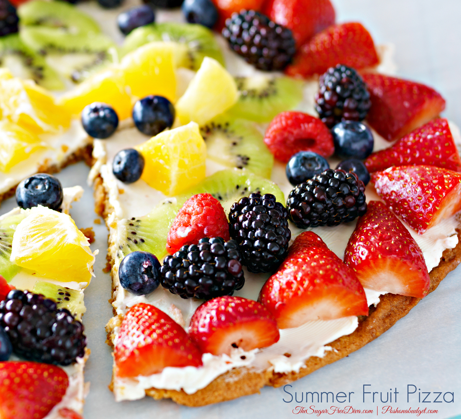 A Delicious Summer Fruit Pizza