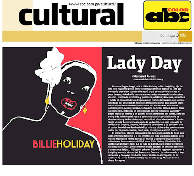 Billie Holiday en el Suplemento Cultural de ABC Color