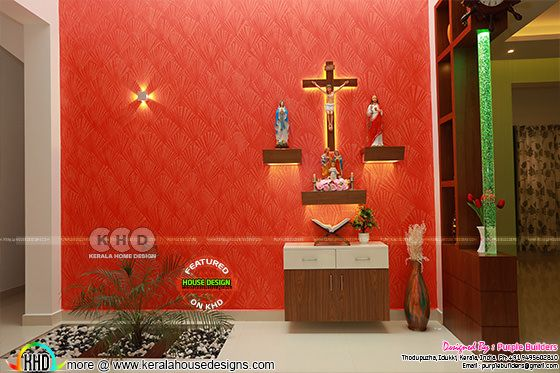 Christian prayer room interior