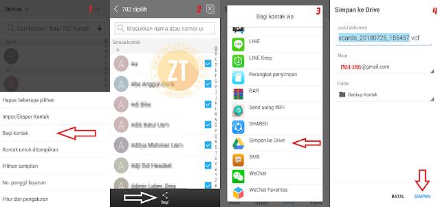 4 Cara Backup Kontak Nomor HP Android