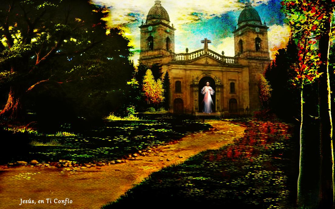 jesus parado en la iglesia esperandonos