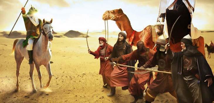 AY, din, İslamiyet, Aişe ile Ali'nin savaşı, Hz Ali ile Hz Aişe savaşıyor, Cemel Olayı, Gerdanlık Olayı, İslam iç savaşı, Hz Aile ile savaş, Hz Ali, Basra'da halife Ali ile savaşan Ayşe, Ümeyye,Huneyfe