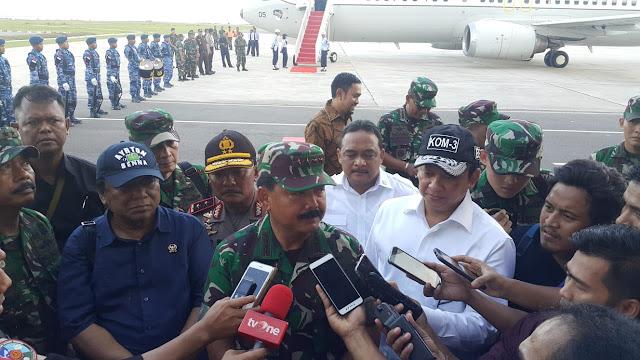 Panglima TNI Kunjungi Prajurit TNI dan Polri di Natuna