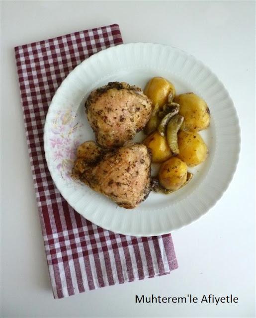 fırında tavuk yemeği