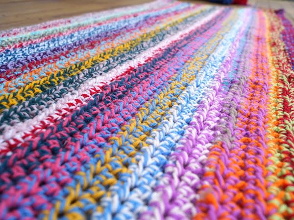 The 'Including Bottle Green' Crochet Blanket