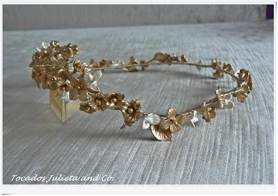 corona porcelana dorada