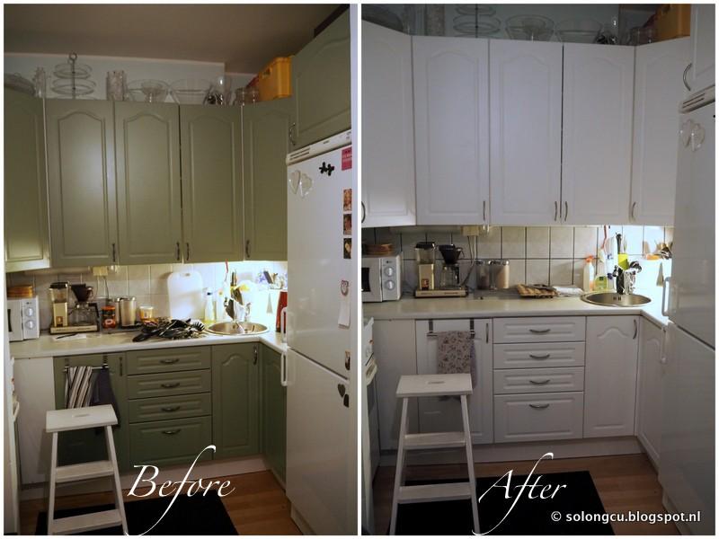 So Long  DOV 2 0 Pientä pintaremonttia  DIY keittiökaappien maalaus
