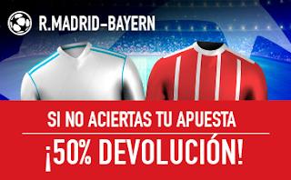 sportium promocion champions Real Madrid vs Bayern 1 mayo