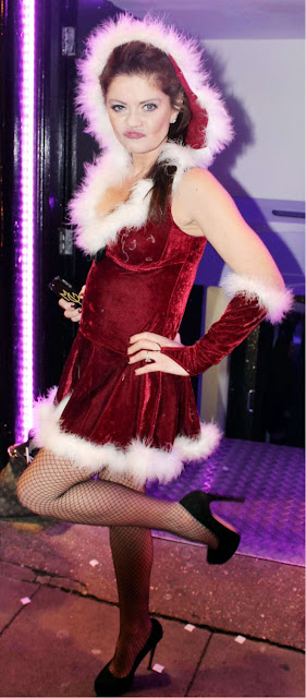 Danniella Westbrook in santa outfit at a night out in Liverpool
