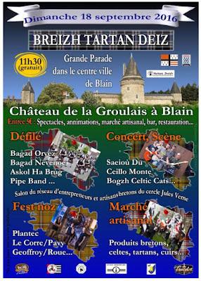Breizh Tartan Deiz 2016 Bagads pipebands, fest noz Plantec, concerts ...