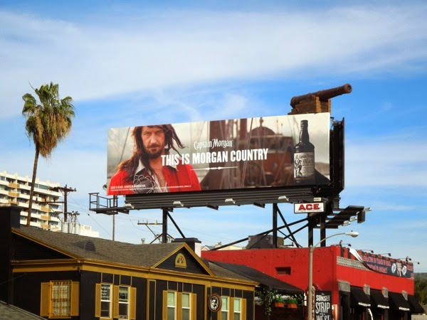 Captain Morgan Rum special cannon installation billboard Sunset Strip