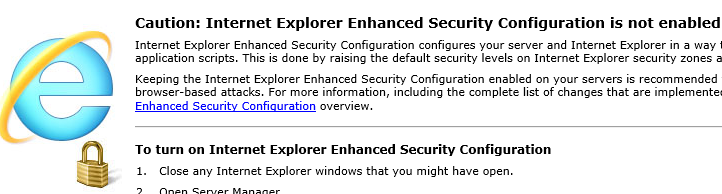 Cosonok's IT Blog: How to Quickly Disable IE ESC in Windows Server
