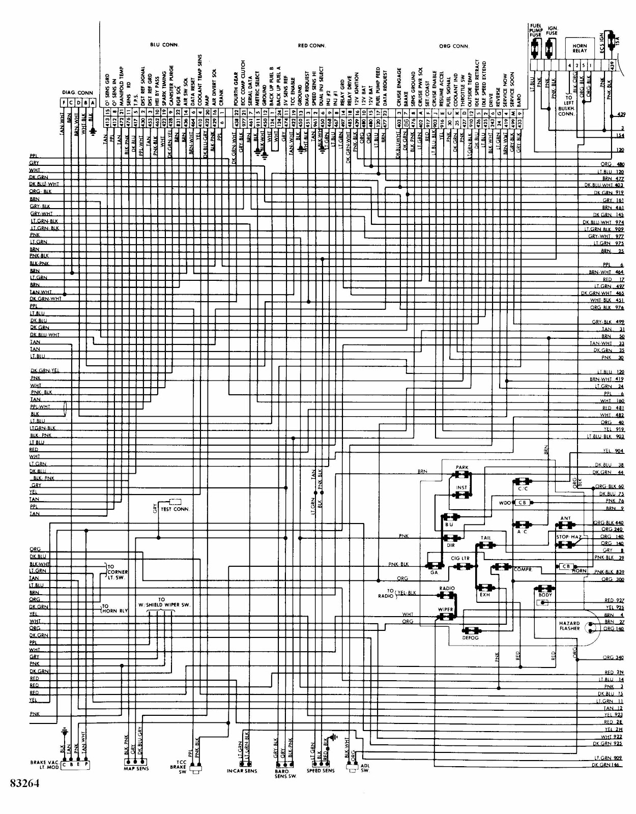 Cadillac Deville 1984 Complete Electrical Wiring Diagram