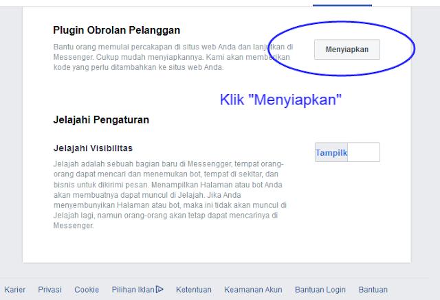 Menyiapkan Pengaturan Facebook Messenger