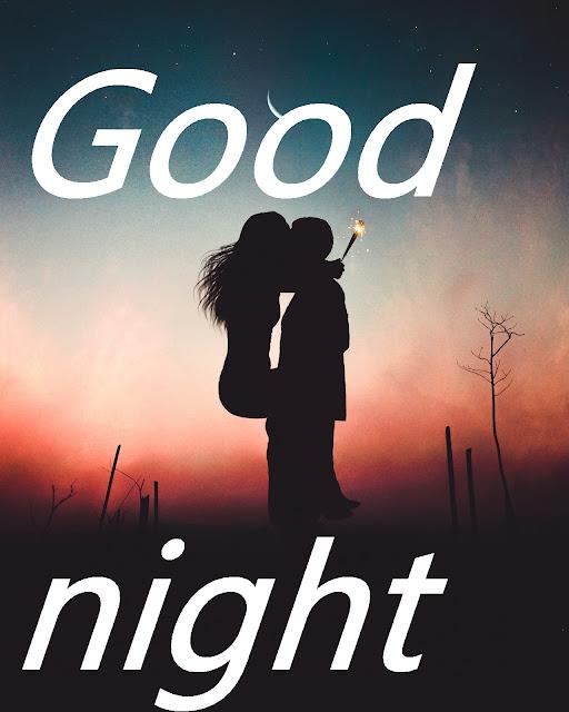 romantic good night kiss image