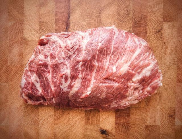 Presa, der Kernmuskel des Nackens vom Ibérico Schwein