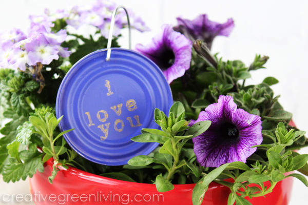 I love you plant marker recycled craft idea