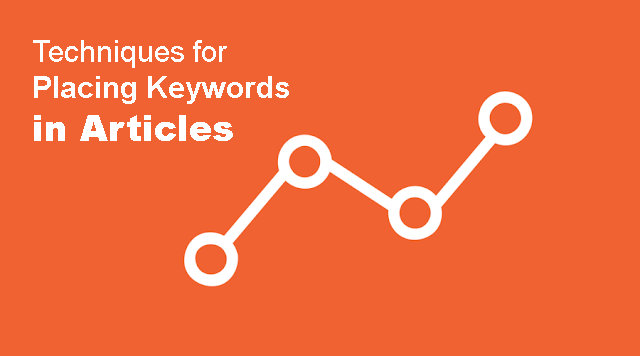 Techniques for Placing Keywords in Articles