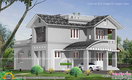 Double storied mixed roof home