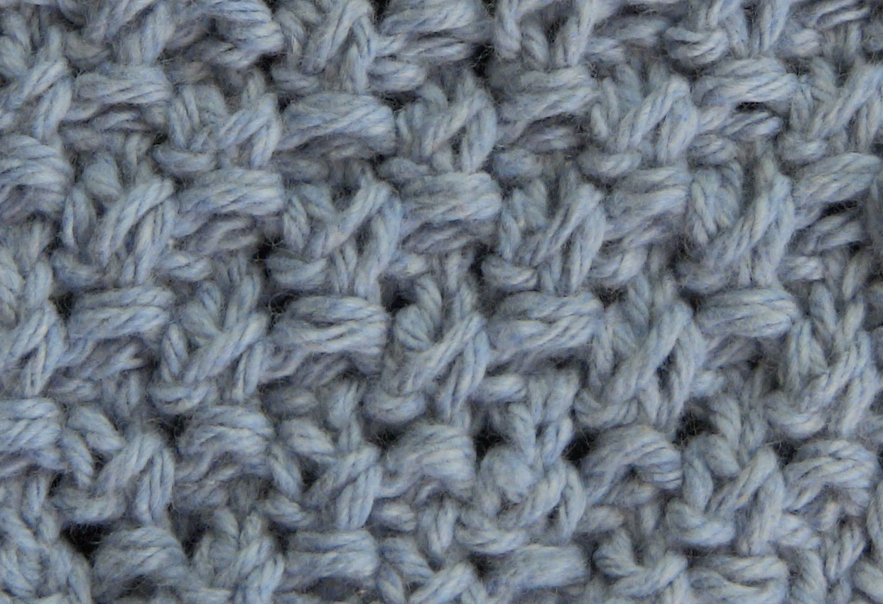 Blanket Moss Stitch | The Weekly Stitch