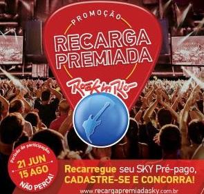 Cadastrar Promoção Sky Pré-Pago 2017 Recarga Premiada Ingressos Rock in Rio