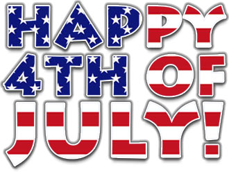 4th of 2017 July ClipArt Images