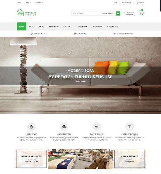 Interior design furniture website templates 2016 - Interior design shopping websites ...