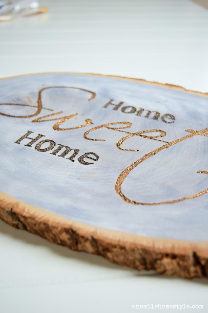 How to make your own wood slice home sweet home wall art
