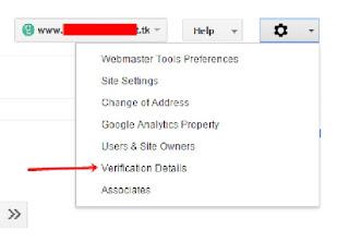 Verification Webmaster Google