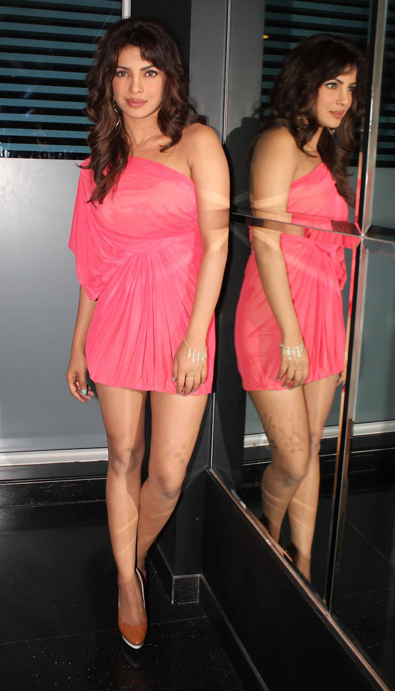 Priyanka Chopra Legs Show Photoshoot In Pink Dress