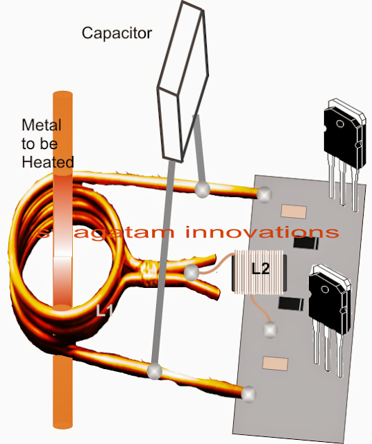 component fixing details of induction heater