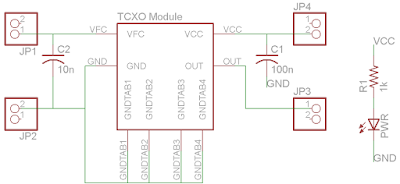 the sync channel blog: quick pcb: tcxo breakout, Wiring schematic