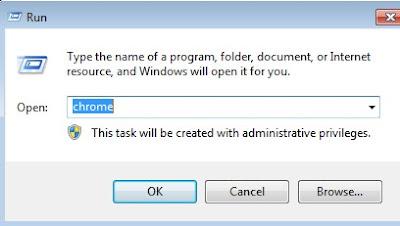 perintah membuka browser dengan cepat