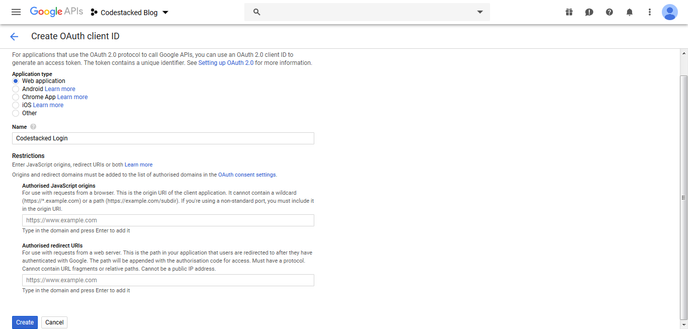 Login with Google OAuth in PHP-03