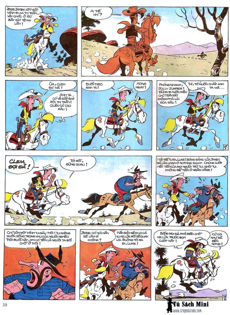Lucky Luke tap 16 - jesse james hiep si rung xanh trang 32