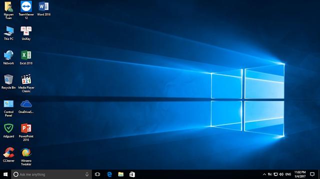 Ghost Win 10 Pro 64 bit OS Build 14393.0 đa cấu hình full soft no driver chỉ sử dụng cho máy UEFI