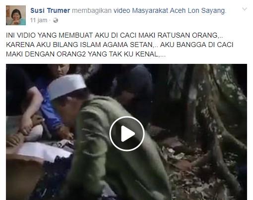 "Susi Trumer, Seorang Kristiani yang Mengatakan ""Islam Agama Setan"", Bahkan Mengaku Bangga dicaci Maki"