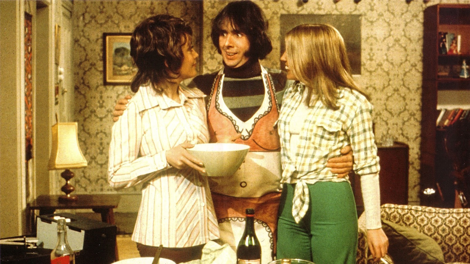 A picture of Robin Oswald Tripp, Chrissy Plummer and Jo from Man About the House