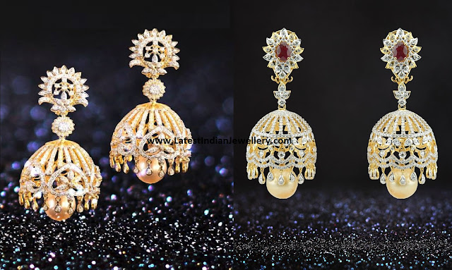 Trendy Diamond Jhumkas