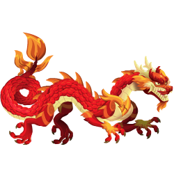 Dragon Asiatique Rouge