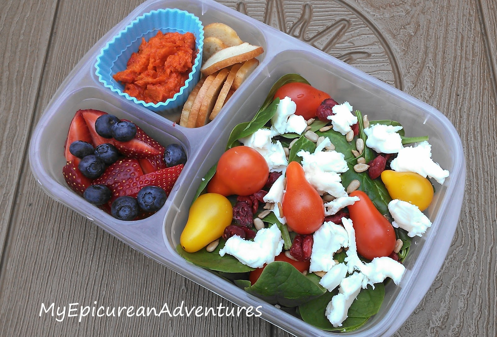 Lunch In A Box Salad In A Box My Post Fasting Lunch My Epicurean Adventures