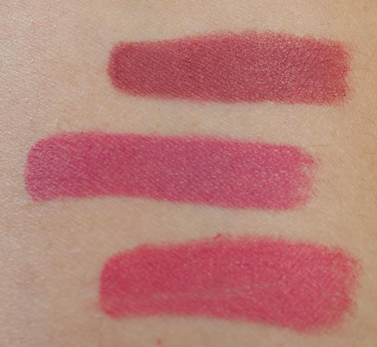 Review and swatches of Charlotte Tilbury Matte Revolution Hot Lips Lipsticks.