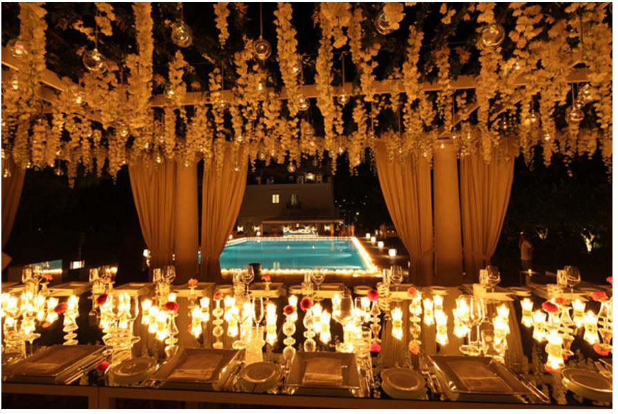 weddings events italy candlelit event candles capri destination party candle outdoor candlelight sugokuii celeb many decor luxury celebrity too lighting