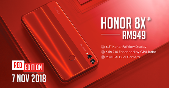 Honor 8X red color edition
