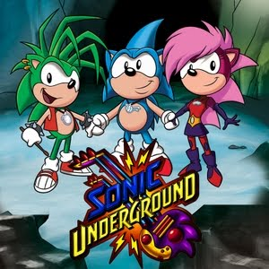 Los tres protagonistas de Sonic Underground